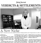Verdicts and Settlements : Daily Journal